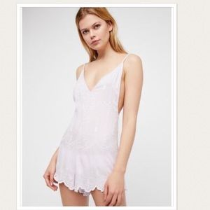 NWOT Free People Boo Yah Embroidered Romper